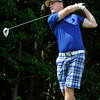 Daniels resident Don Jones tees off on #4 during the second day of BNI tournament action Sunday morning at Grandview Country Club.<br /> Brad Davis/The Register-Herald