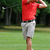 Christian Brand shoots from the fairway during the West Virginia Open Pro-Am Monday afternoon at Glade Springs Resort's Cobb golf course.<br /> Brad Davis/The Register-Herald