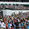 Crowd on the 18th hole during the final round of The Greenbrier Classic.<br /> Rick Barbero/The Register-Herald