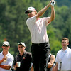 George McNeill tees off on 17 during the final round of the Greenbrier Classic Sunday in White Sulphur Springs.<br /> Brad Davis/The Register-Herald