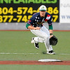 West Virginia infielder Grant Massey fields a ground ball against the Butler BlueSox July 15 at Linda K. Epling Stadium.<br /> Brad Davis/The Register-Herald
