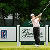 George McNeill tees off on 16 during the final round of the Greenbrier Classic Sunday in White Sulphur Springs.<br /> Brad Davis/The Register-Herald