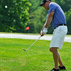 Barboursville resident Jason Hess shoots during the second day of BNI tournament action Sunday morning at Grandview Country Club.<br /> Brad Davis/The Register-Herald