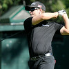 Chris Stroud tees off on 16 during the Greenbrier Classic Saturday in White Sulphur Springs.<br /> Brad Davis/The Register-Herald