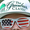 J.D. Francisco, 9, of Huntington watches the second round of The Greenbrier Classic.<br /> Rick Barbero/The Register-Herald