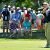 Jim Renner shoots from the fairway on 7 during the Greenbrier Classic Saturday in White Sulphur Springs.<br /> Brad Davis/The Register-Herald