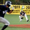 West Virginia infielder Mike Brosseau scoops up a ground ball against the Butler BlueSox July 15 at Linda K. Epling Stadium.<br /> Brad Davis/The Register-Herald