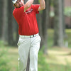 Tim Boggs hits his tee shot on the 11th hole on the Cobb course at Glade Springs.<br /> Rick Barbero/The Register-Herald