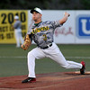 West Virginia Miners pitcher Kyle Palmer delivers during a relief appearance against the Lorain County Ironmen June 16 at Linda K. Epling Stadium.<br /> Brad Davis/The Register-Herald