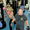 Kickboxing instructor Dave Krass instructs his class during a session June 10 at the YMCA of Southern West Virginia.<br /> Brad Davis/The Register-Herald