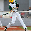 West Virginia's Paul Trenhaile hacks at a pitch during the bottom of the third inning Monday night, scoring a run for the Miners when he managed to chop it in play at Linda K. Epling Stadium. <br /> Brad Davis/The Register-Herald