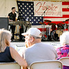 Colton Pack performs during Hospice of Southern West Virginia's Wing Night May 30 at Word Park.<br /> Brad Davis/The Register-Herald
