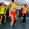 Cameron Mills keeps up the pace as she participates in one of instructor Celi Van Dyke's zumba classes Monday evening at the YMCA of Southern West Virginia.<br /> Brad Davis/The Register-Herald