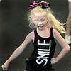 Laney Garcia, 6, joined her fellow cheer leaders at the Cheer Magic Cheer camp in Oak Hill on Wednesday afternoon. F. Brian Ferguson/The Register-Herald
