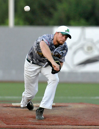 West Virginia Miners pitcher Andrew Bramley delivers during a game against the Lorain County Ironmen June 16 at Linda K. Epling Stadium.<br /> Brad Davis/The Register-Herald