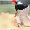Liberty's #8 tags out Independence's #23 in a cloud of dust at second base  during Tuesday afternoon action in Glen Daniels. F. Brian Ferguson/The Register-Herald