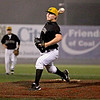 West Virginia State starting pitcher Tyler Hall delivers against Concord Saturday night at Linda K. Epling Stadium.<br /> Brad Davis/The Register-Herald
