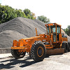 Rick Barbero/The Register-Herald<br /> Gravel piled up at the DOH location in Beckley is used to mix together with salt to help melt ice on roads in the winter time.