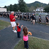 Brad Davis/The Register-Herald<br /> Westside fans cheer on the Renegades football team as they make their way down to the Burial Ground Friday night in Clear Fork.