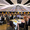 Brad Davis/The Register-Herald<br /> Area business people, local officials, politicians, sports figures and their families packed the Old Gold and Blue-clad Convention Center Friday night during the 95th Annual Beckley-Raleigh County Chamber of Commerce Dinner Friday night.