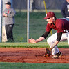 Brad Davis/The Register-Herald<br /> Woodrow Wilson shortstop Michael Maiolo fields a ground ball during the Flying Eagles' win over Shady Spring Wednesday evening.