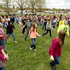 "Chris Jackson/The Register-Herald<br /> Around 200 students at Collins Middle School participated in a voluntary ""Waka-Waka"" dance video in Oak Hill on Monday. The multicultural dance was an effort to get children more activate while at school."