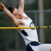 Brad Davis/The Register-Herald<br /> Nicholas County's Nich Girod clears five feet and four inches on a high jump attempt during Woodrow Wilson's track meet Thursday evening at Van Meter Stadium.