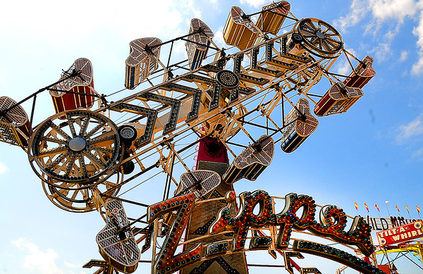 Rick Barbero/The Register-Herald<br /> Zipper ride at The WV State Fair in Fairlea.