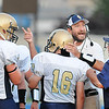 Rick Barbero/The Register-Herald<br /> Shady Spring head coach Vince Culicerto talks to his playersduring game against Princeton at Hunnicut Stadium in Princeton Friday night.