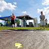 "Brad Davis/The Register-Herald<br /> Mount Nebo brothers Joseph (left), 12, and Cameron Allman, 10, do a little ""fishing"" at the Cabela's activity tent during the Summersville Lake Lighthouse Festival Saturday afternoon."