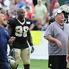 Rick Barbero/The Register-Herald<br /> New Orleans Saints and New England Patriots joint practice held at The Greenbrier Resort in White Sulphur Springs Thursday morning.
