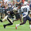Rick Barbero/The Register-Herald<br /> Matthew Slater, of New England, right catches a touchdown pass against, Ronald Powell, of New Orleans during the New Orleans Saints and New England Patriots joint practice held at The Greenbrier Resort in White Sulphur Springs Thursday morning.