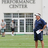 Rick Barbero/The Register-Herald<br /> PAtriots head coach Bill Belichick during the New Orleans Saints and New England Patriots joint practice held at The Greenbrier Resort in White Sulphur Springs Wednesday morning.