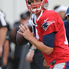 Rick Barbero/The Register-Herald<br /> New England Patriots quarterback Tom Brady practicing at The Greenbrier Resort in White Sulphur Springs Thursday morning.