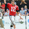 Rick Barbero/The Register-Herald<br /> Tom Brady, of Patriots, walking the the field for the New Orleans Saints and New England Patriots joint practice held at The Greenbrier Resort in White Sulphur Springs Wednesday morning.