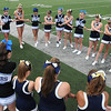 Rick Barbero/The Register-Herald<br /> Cheerleaders for Shady Spring and Princeton form a prayer circle before the game at Hunnicut Stadium in Princeton Friday night.