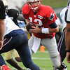 Rick Barbero/The Register-Herald<br /> Tom Brady, of Patriots, running with the ball during the New Orleans Saints and New England Patriots joint practice held at The Greenbrier Resort in White Sulphur Springs Wednesday morning.