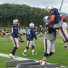 Rick Barbero/The Register-Herald<br /> New Orleans Saints and New England Patriots joint practice held at The Greenbrier Resort in White Sulphur Springs Wednesday morning.