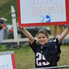 Rick Barbero/The Register-Herald<br /> Patriot fan at the New Orleans Saints and New England Patriots joint practice held at The Greenbrier Resort in White Sulphur Springs Thursday morning.