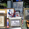 Brad Davis/The Register-Herald<br /> Various photographs and items of the Tygrett brothers from the war years sit on display during a bridge dedication ceremony in their honor Saturday afternoon at Pax's Picnic Park.