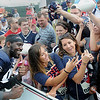 Rick Barbero/The Register-Herald<br /> Chandler Jones, of the Patriots posing for a photo after the New Orleans Saints and New England Patriots joint practice held at The Greenbrier Resort in White Sulphur Springs Wednesday morning.
