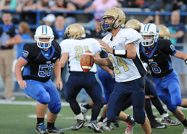 Rick Barbero/The Register-Herald<br /> Shady Spring vs Princeton at Hunnicut Stadium in Princeton Friday night.