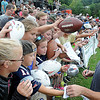 Rick Barbero/The Register-Herald<br /> Danny Amendola, of New England signing autographs after the New Orleans Saints and New England Patriots joint practice held at The Greenbrier Resort in White Sulphur Springs Thursday morning.