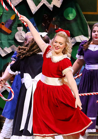 Brad Davis/The Register-Herald<br /> Clara, played by Presley Peterson, dances during Beckley Dance Theatre's The Nutcracker Sunday afternoon inside the Woodrow Wilson High School Auditorium.
