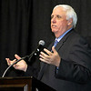 Brad Davis/The Register-Herald<br /> Tournament chairman Jim Justice speaks during the Big Atlantic Classic Banquet Sunday afternoon at the Beckley-Raleigh County Convention Center.