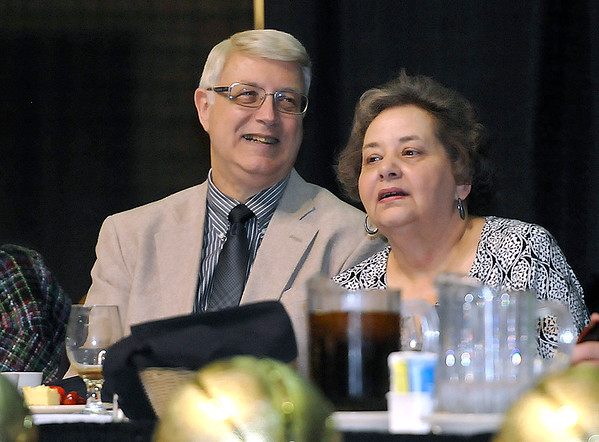 Brad Davis/The Register-Herald<br /> Beckley mayor Bill O'Brien and his wife Lynn take in the festivities during the Big Atlantic Classic Banquet Sunday afternoon at the Beckley-Raleigh County Convention Center.