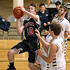 Brad Davis/The Register-Herald<br /> PikeView's Seth Meadows charges the basket and scores against Nicholas County Saturday night at the Beckley-Raleigh County Convention Center.