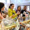 Brad Davis/The Register-Herald<br /> Goldsboro, North Carolina residents (from left) Brianna, Nichole, Shannon and Tracey Casto do a little shopping at Tamarack Sunday afternoon. They were visiting with family in the Ripley area over the weekend and decided to stop into Tamarack to check out a few arts and crafts before hitting the road and heading back down South.