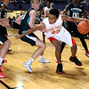 Brad Davis/The Register-Herald<br /> Oak Hill Academy's Joshua Reaves drives to the basket Wednesday night at the Beckley-Raleigh County Convention Center.