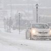 Rick Barbero/The Register-Herald<br /> Snow covering Neville Street in Beckley Wednesday afternoon.